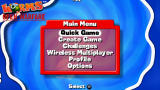 Worms: Open Warfare PSP Main menu