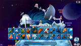 Worms: Open Warfare PSP Weapon selection screen
