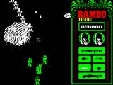 Rambo: First Blood Part II ZX Spectrum Main group of prisoners leaves the jail