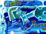 Pinball World DOS North Pole table [top left].