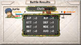 The Legend of Heroes II: Prophecy of the Moonlight Witch PSP Battle Results and Level Up
