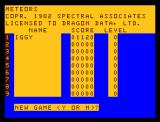 Color Meteoroids Dragon 32/64 High scores