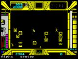 Terrorpods ZX Spectrum in-game screen - detailed map