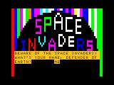 Color Space Invaders TRS-80 CoCo Intro screen 2 - enter your initials