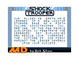 Shock Trooper TRS-80 CoCo Intro screen 2 with your mission