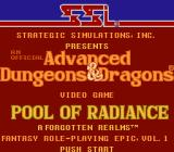 Pool of Radiance NES Title screen