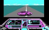 Techno Cop DOS Spinning out from a collision (CGA)