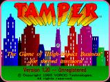 Tamper DOS Title screen