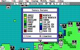 UMS II: Nations at War DOS Map Legend Screen