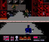 The Punisher NES Enemies jump out of the background to attack the Punisher