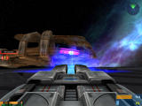 Star Trek: Elite Force II Windows The Enterprise-E has laser turrets on it's outer hull which can blast other starships