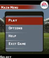 FIFA 06 J2ME Main game screen