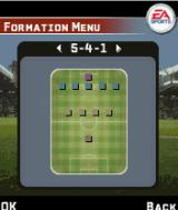 FIFA 06 J2ME Set the formation.