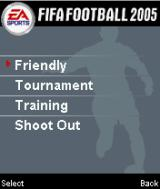 FIFA Soccer 2005 Mobile International Edition J2ME Main game screen