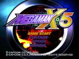 Mega Man X5 PlayStation The main menu