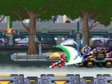Mega Man X5 PlayStation Zero is using his Z-Saber.