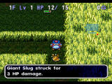 World of Dragon Warrior: Torneko - The Last Hope PlayStation Torneko fights a Giant Slug and other familiar Dragon Warrior enemies