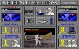 Buzz Aldrin's Race into Space DOS Preferences selections