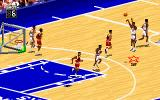 NBA Live 95 DOS Trying a three point basket
