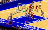 "NBA Live 95 DOS The is trying a ""Dunk"""