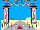 Out Run 3-D SEGA Master System At the starting line