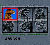 Primal Rage Game Gear Choosing your player.