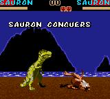 Primal Rage Game Gear Sauron conquers, and you loose...