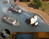 Age of Empires III: The WarChiefs Windows Ironclads combine firepower with superior armor.