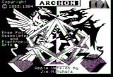 Archon: The Light and the Dark Apple II Title screen.