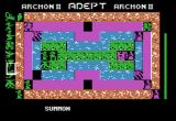 Archon II: Adept Apple II Wizard summons other pieces, a Firebird! (Boardgame sequence).
