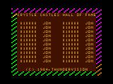 Crystle Castles TRS-80 CoCo Original Thundervision intro/high score screen