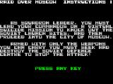 Raid Over Moscow ZX Spectrum Instructions