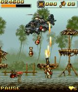 Metal Slug: Mobile Impact J2ME This helicopter is the end boss of the first level.