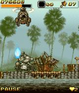 Metal Slug: Mobile Impact J2ME In the third mission, you get to drive a tank.