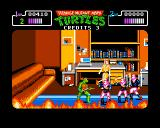 Teenage Mutant Ninja Turtles Amiga April is trapped in an office engulfed with fire