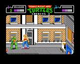 Teenage Mutant Ninja Turtles Amiga About to be run over by a woman skateboarding
