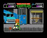 Teenage Mutant Ninja Turtles Amiga April is behind the cage