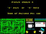 Postman Pat 2 ZX Spectrum The two game modes