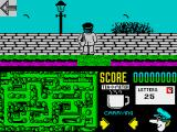 Postman Pat 2 ZX Spectrum Moving vertically involves walking in or out of the screen
