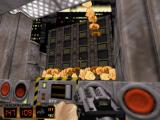 Duke Nukem 3D: Atomic Edition DOS Detroying a building in level two