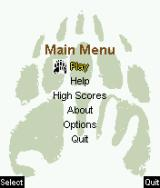 Brother Bear J2ME Main game screen
