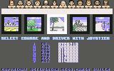 Power Drift Commodore 64 Course and driver selection
