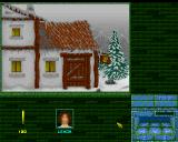 Magic Island: The Secret of Stones Amiga Start of the game - a pub ahead.