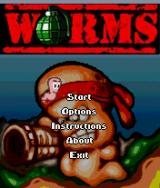 Worms J2ME Main game screen