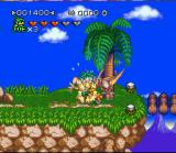 Joe & Mac 2: Lost in the Tropics SNES Hit by a pterodactyl.