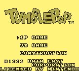 Tumble Pop Game Boy Title