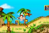 Crash Bandicoot 2: N-Tranced Game Boy Advance Crash starts breaking a crate containing some Wumpa Fruits.