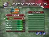 FIFA 98: Road to World Cup PlayStation Starting the road.