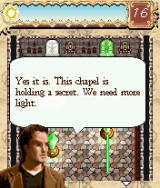 The Da Vinci Code: Light Puzzle J2ME Between levels there's dialogue with Langdon and Neveau.