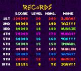 Pac-Attack SNES High score list